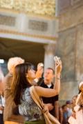 visitors in Hagia Sophia
