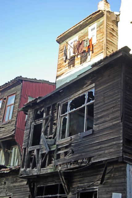 old fabric wooden houses, Balat, İstanbul, eski ahşap evler, Pentax K10d