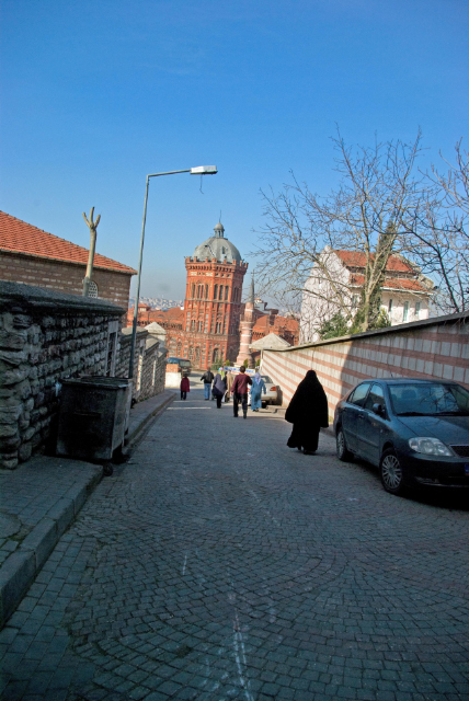 border of Balat district and Fatih district , a cool sunday, İsmailağa mosque, private greek college and Mevlevi mosque