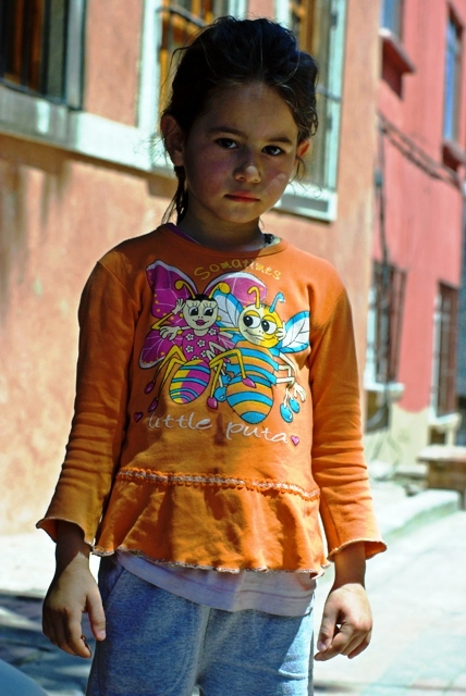 little girl in Balat