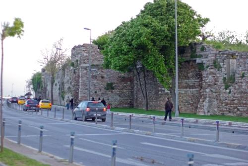 city walls, Ahırkapı region, İstanbul