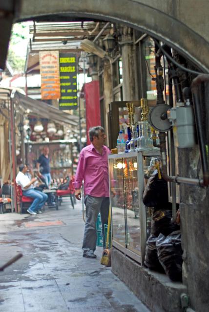 Nargile bahçesi, Nargile cafe, Çemberlitaş, İstanbul, pentax k10d