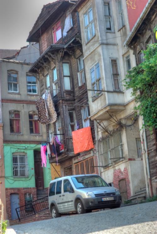 Balat houses, Balat evleri, İstanbul, pentax k10d