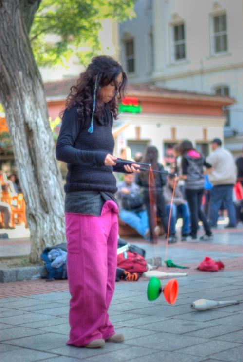 street performance, Galata, İstanbul, pentax k10d