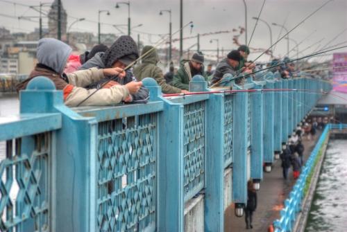 Galata bridge, Eminönü-İstanbul, Galata köprüsü, pentax k10d