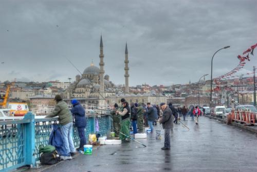 Istanbul, Galata Köprüsü, pentax k10d, Galata Bridge and New Mosque