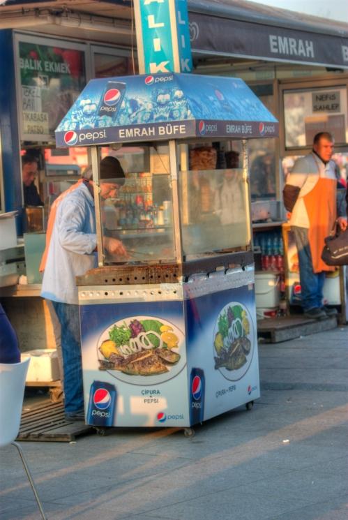 fish-bread seller, balık-ekmek satıcısı, Kadıköy, Istanbul, pentax k10d