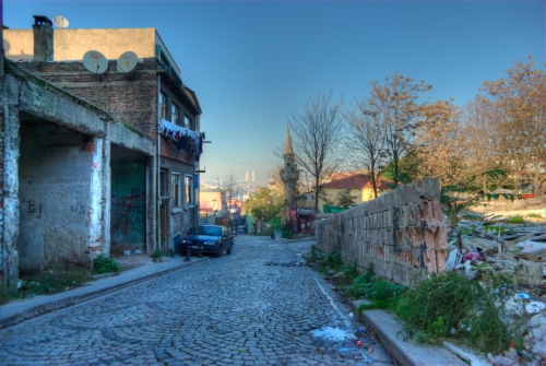 old streets of Suleymaniye  , Istanbul, pentax k10d