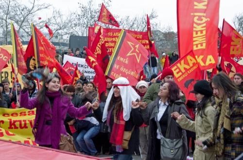 Women's day celebrations, Kadınlar günü kutlamaları, kadıkoy-istanbul, pentax kx