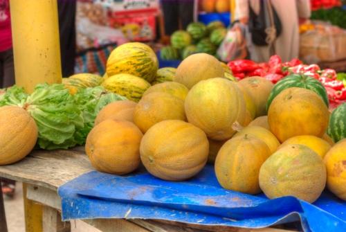 melons from market of Ayvacik, Ayvacik pazarından kavunlar, Çanakkale, pentax k10d