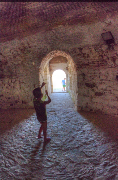 Castle of Bozcaada, Çanakkale, pentax kx  and pentax 10-17 fish-eye