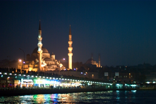 Istanbul, New Mosque and Galata Bridge, Yeni Camii ve Galata Köprüsü, Pentax k10d, by ozgur ozkok