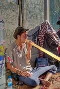 street musician, Beyoglu-İstanbul, pentax k10d, by ozgur ozkok
