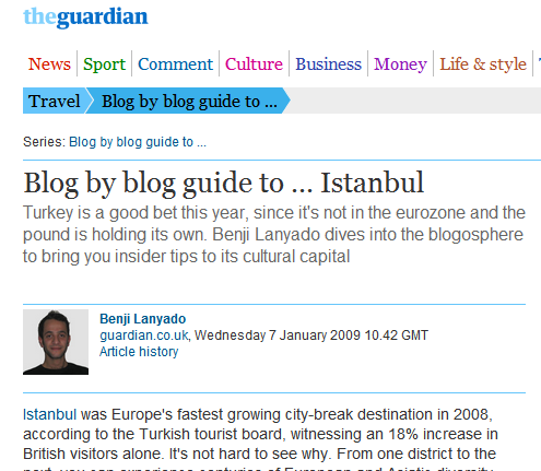 Blog by blog guide to … Istanbul - Travel - guardian.co.uk