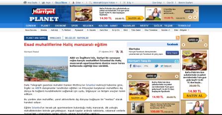 Esad muhaliflerine Haliç manzarali egitim - Hürriyet PLANET 10