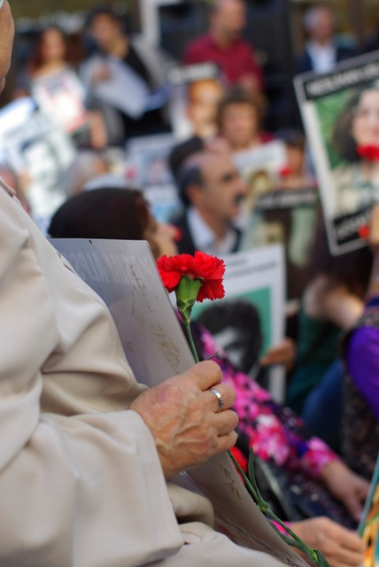 Saturday Mothers are the mothers, families of the disappeared sons daughters, husbands with Military Coup at 12.september.1980